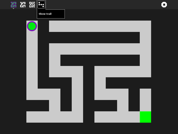 Maze activity screenshot